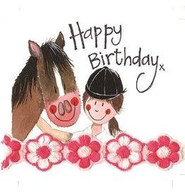 Alex Clark Art Horse & Rider Birthday Card