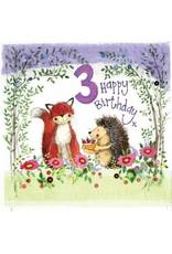 Alex Clark Art 3 Year Old Woodland Birthday Card
