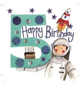 Alex Clark Art 5 Year Old Boy Birthday Card