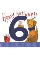 Alex Clark Art 6 Year Old Birthday Card