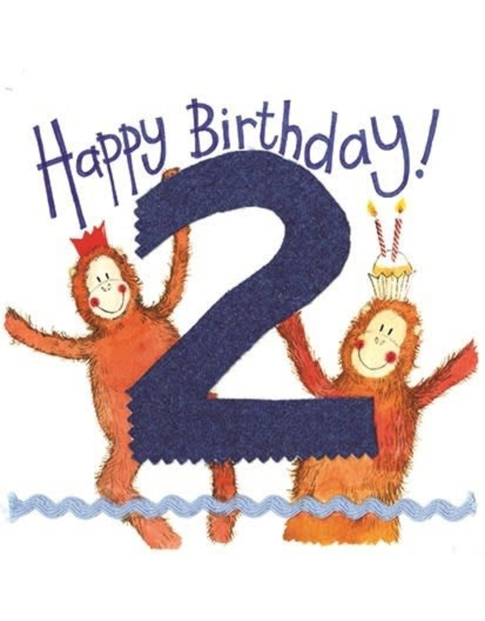 Alex Clark Art 2 Year Old Birthday Card