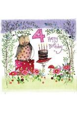 Alex Clark Art 4 Year Old Woodland Birthday Card