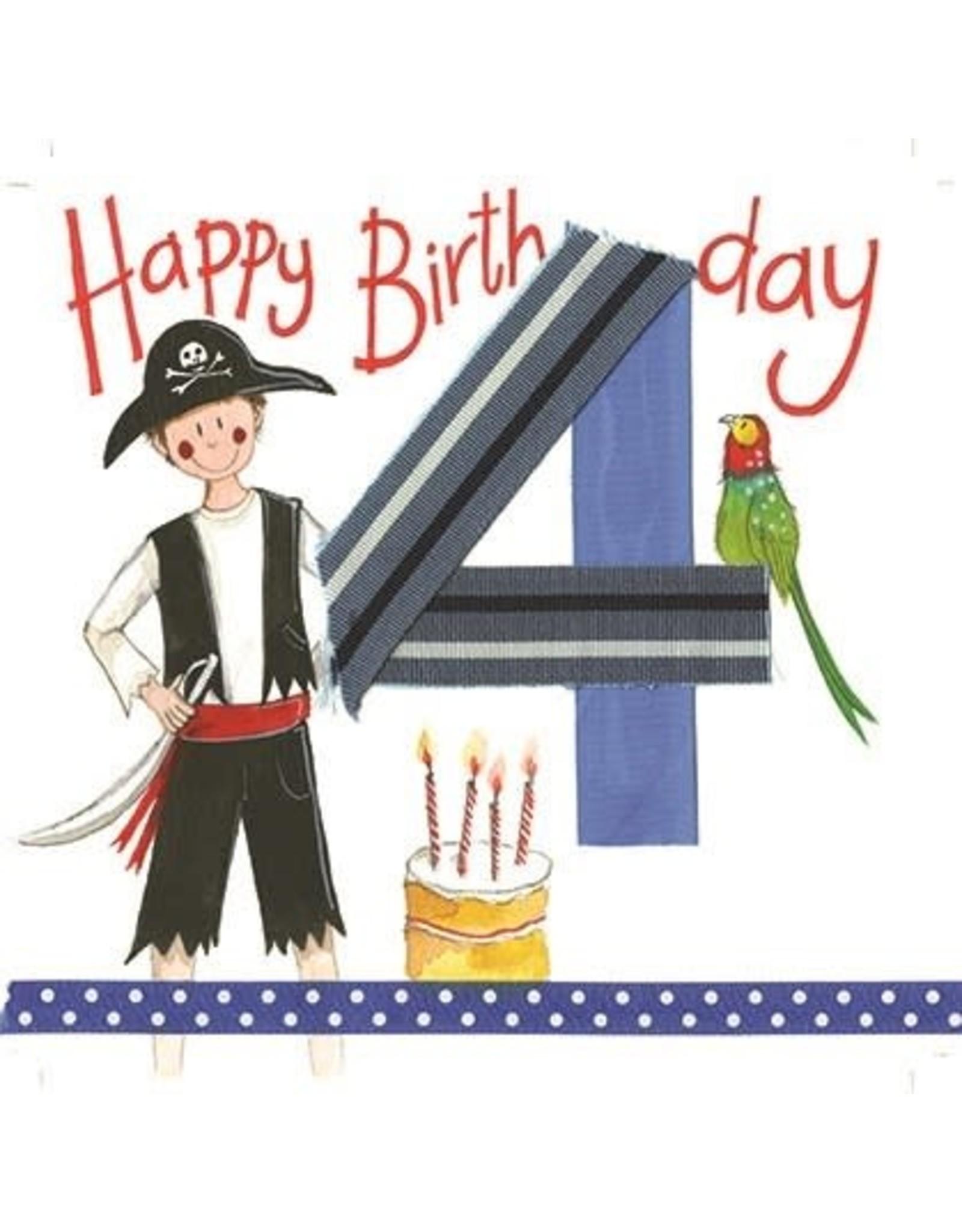 Alex Clark Art 4 Year Old Boy Birthday Card