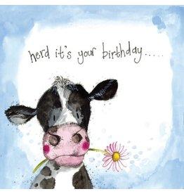 Alex Clark Art Sunshine Cow Birthday Card
