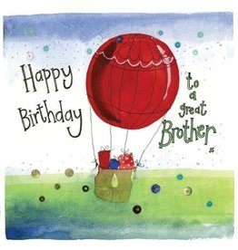 Alex Clark Art Brother Balloon Birthday Card