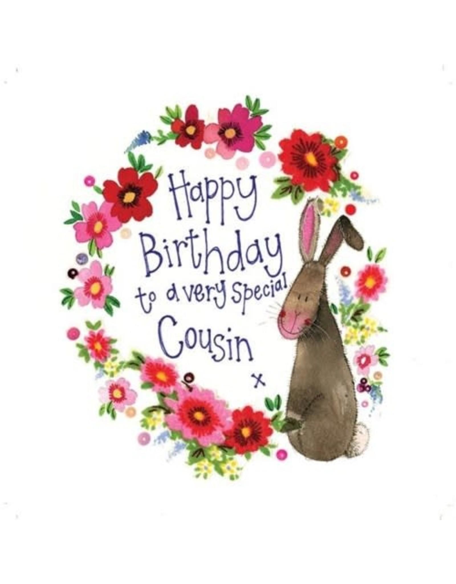Alex Clark Art Cousin Rabbit Birthday Card