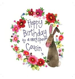 Alex Clark Art Cousin Rabbit Birthday Card