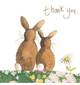 Alex Clark Art Thank You Rabbit Card