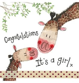 Alex Clark Art Giraffe Family Card