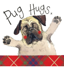 Alex Clark Art Pug Hugs Card
