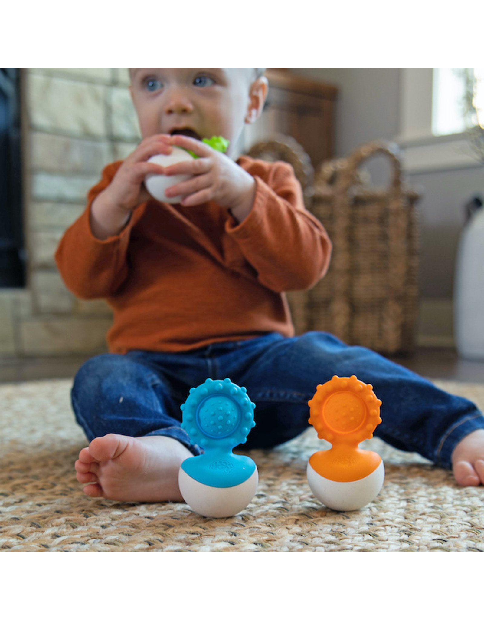 Fat Brain Toys Dimpl Wobbl - Green