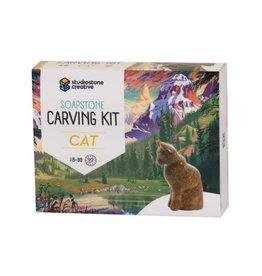 Studiostone Creative Soapstone Carving Kit - Cat