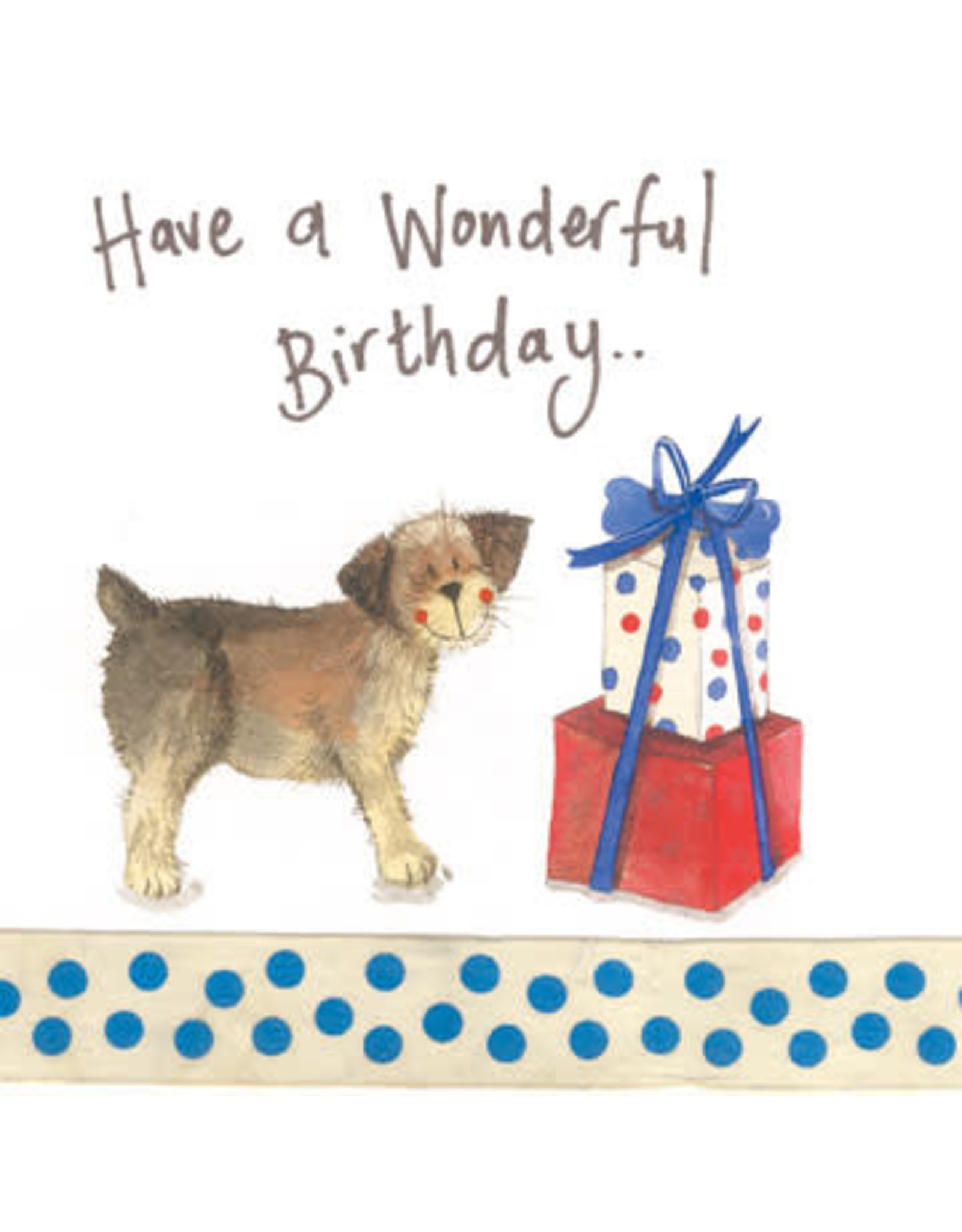 Alex Clark Art Border Birthday Card
