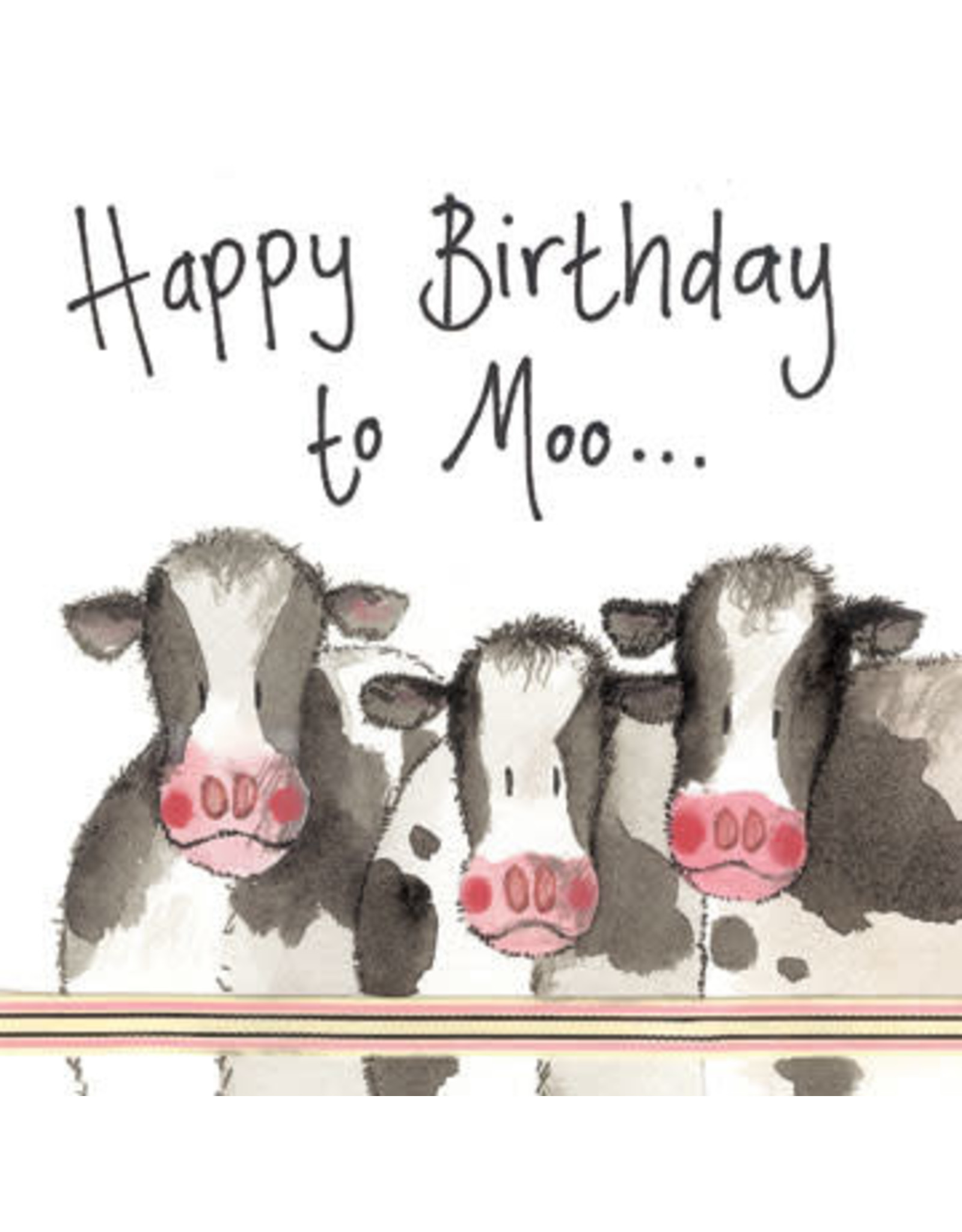 Alex Clark Art Cows Birthday Card