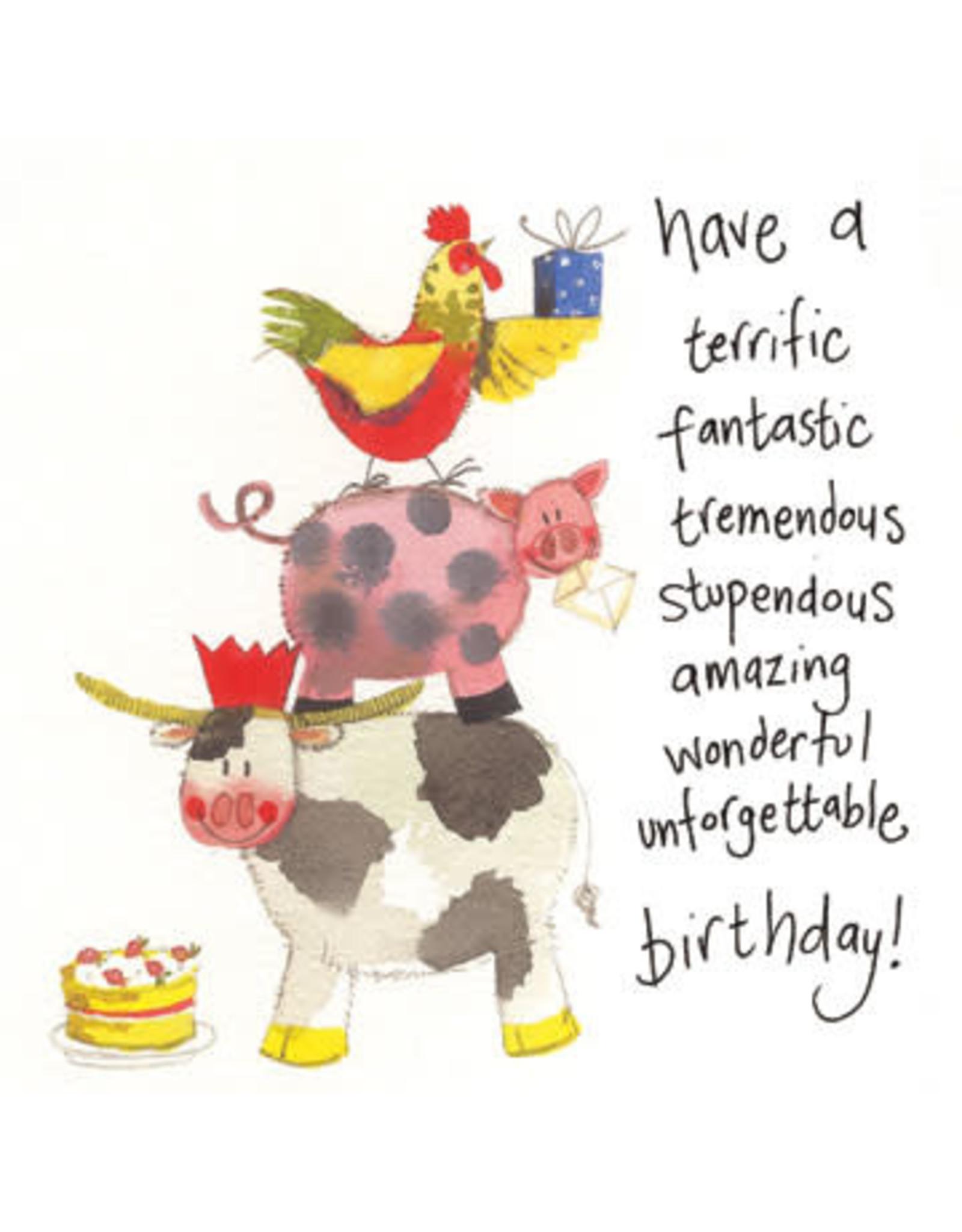 Alex Clark Art Acrobats Birthday Card