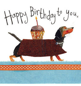 Alex Clark Art Dachshund Birthday Card