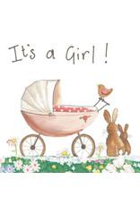 Alex Clark Art Baby Girl Card
