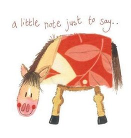 Alex Clark Art Little Note Horse Card