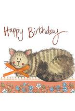 Alex Clark Art Cat & Bow Birthday Card