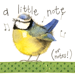 Alex Clark Art Little Note Blue Tit Card