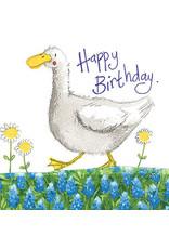 Alex Clark Art Duck & Daisies Birthday Card
