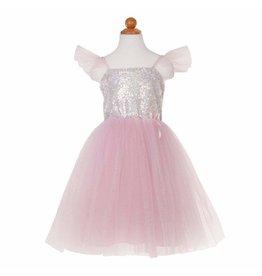 Great Pretenders Silver Sequin Princess Dress, Size 3/4