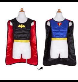 Great Pretenders Reversible Superhero Bat Tunic with Cape & Mask