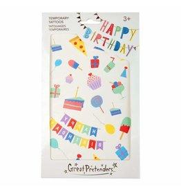 Great Pretenders Happy Birthday Tattoos