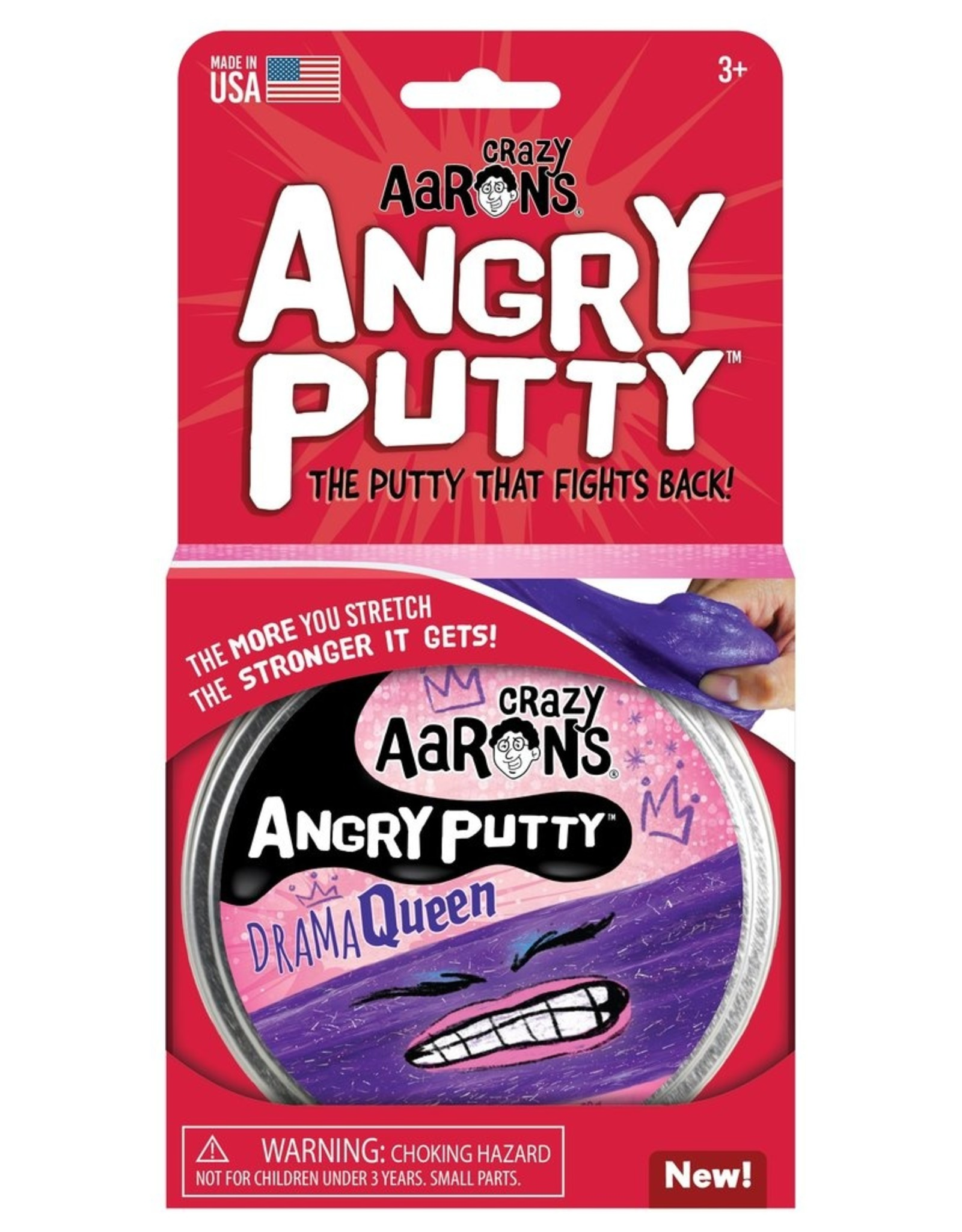 "Crazy Aaron's Crazy Aaron's 4"" Drama Queen - Angry Putty"