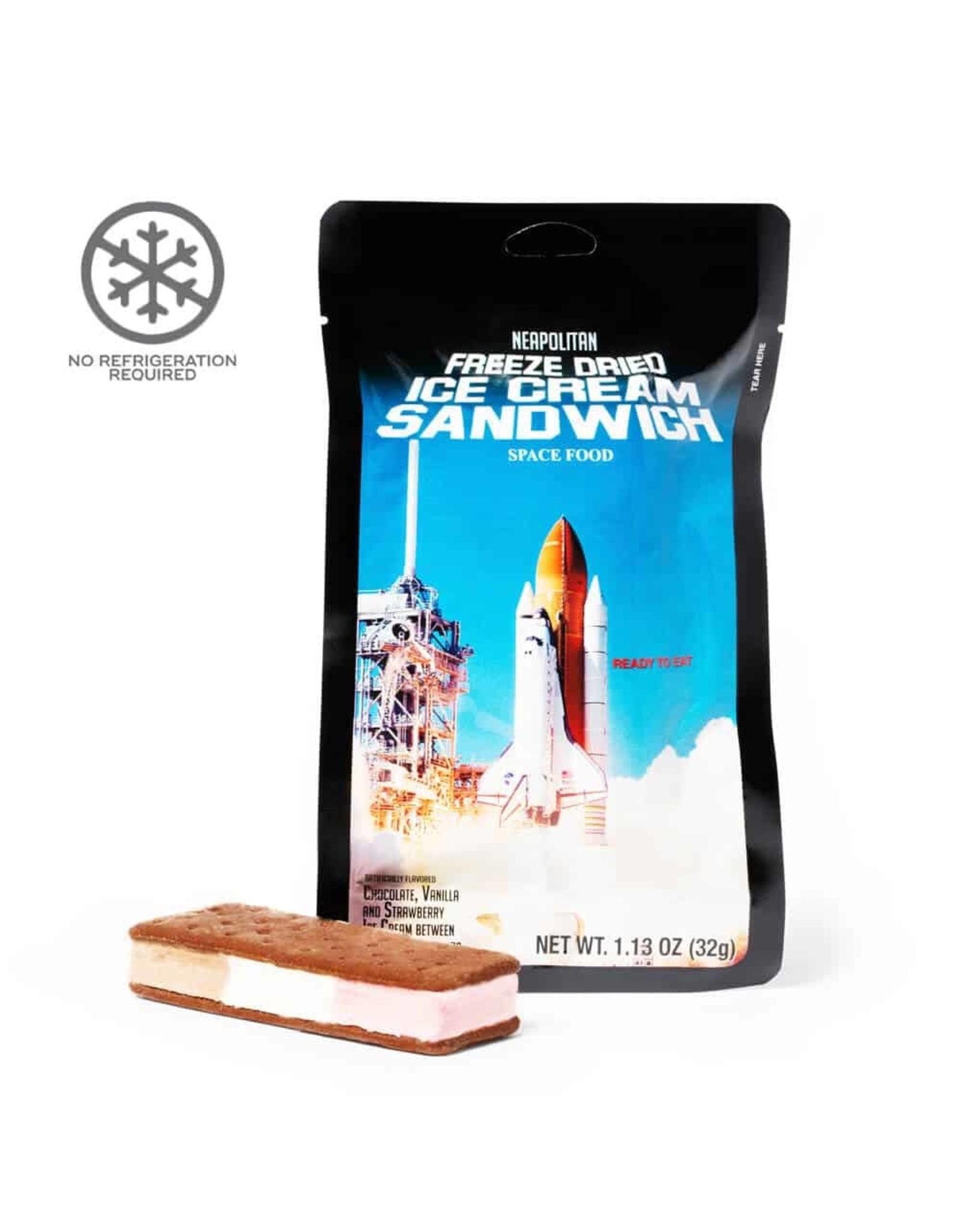 Astronaut Freeze-Dried Ice Cream Sandwich Neapolitan