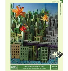 New York Puzzle Co. Smarter Greener Better 500 pc