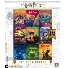 New York Puzzle Co. Harry Potter Book Cover Collage 500pc