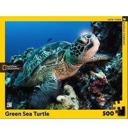 New York Puzzle Co. Green Sea Turtle 500 pc