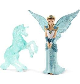 Schleich Eyela with Unicorn Ice Sculpture