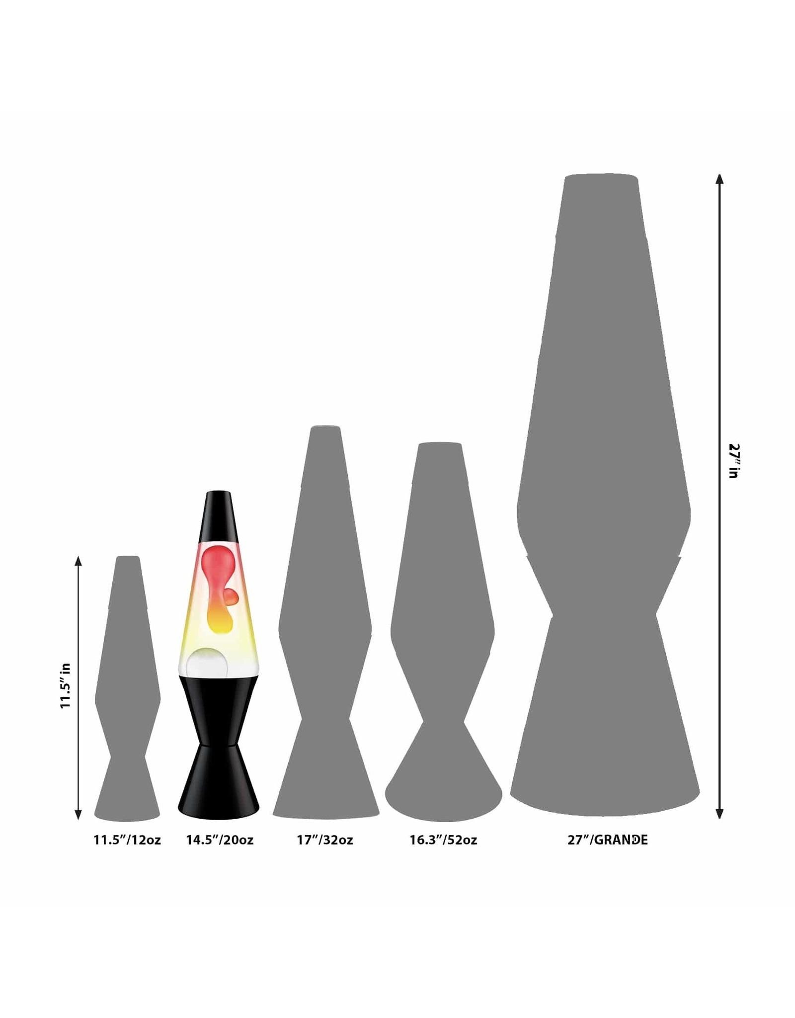 Lava 14.5'' Lava Lamp - Tricolor White & Clear