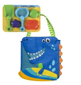 Stephen Joseph Beach Tote with Sand Playset - Dino