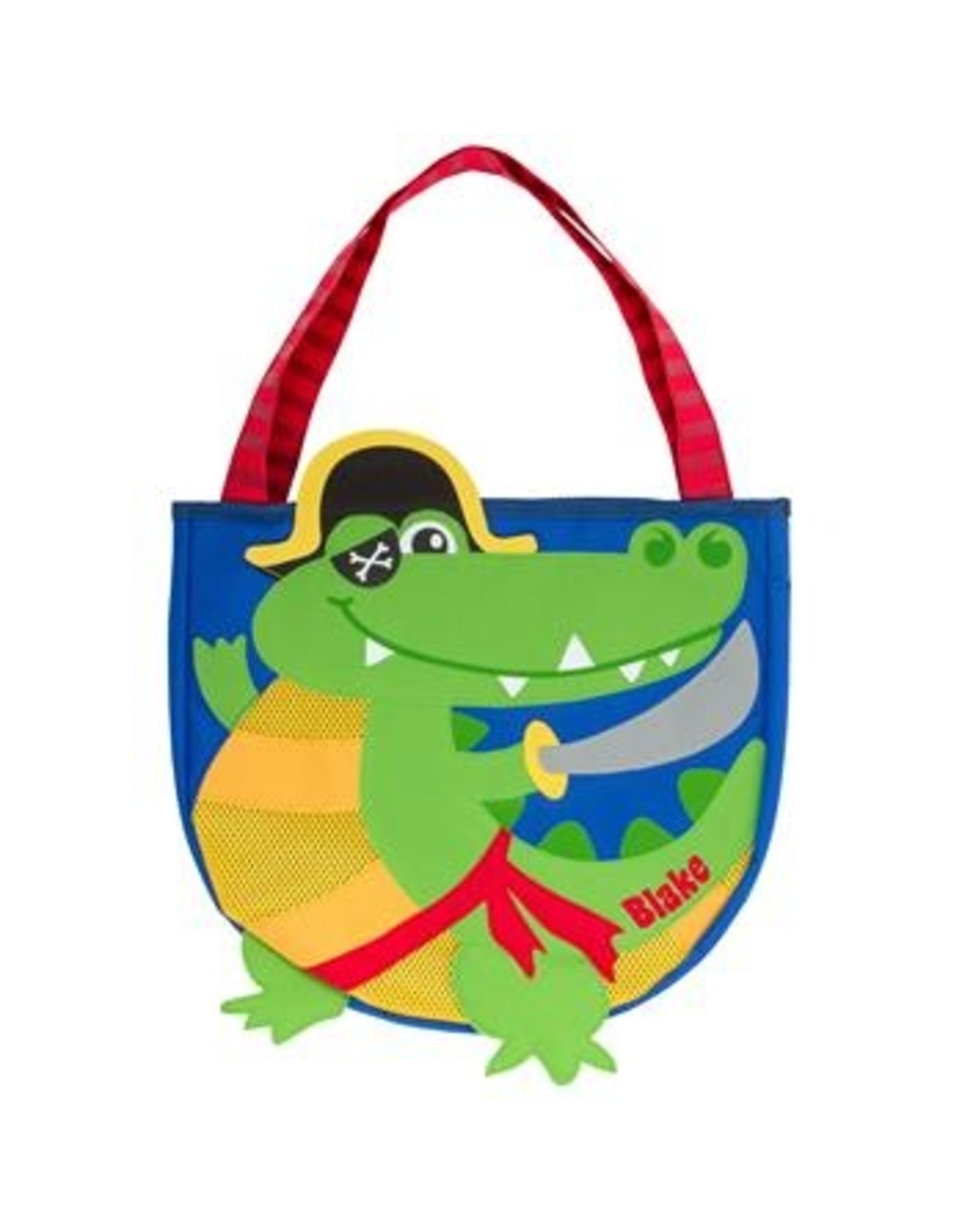 Stephen Joseph Beach Tote with Sand Playset - Alligator Pirate