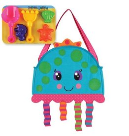 Stephen Joseph Beach Tote with Sand Playset - Jellyfish