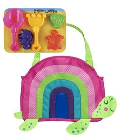 Stephen Joseph Beach Tote with Sand Playset - Turtle
