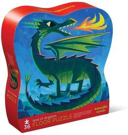 Crocodile Creek Land of Dragons 36 pc Floor Puzzle
