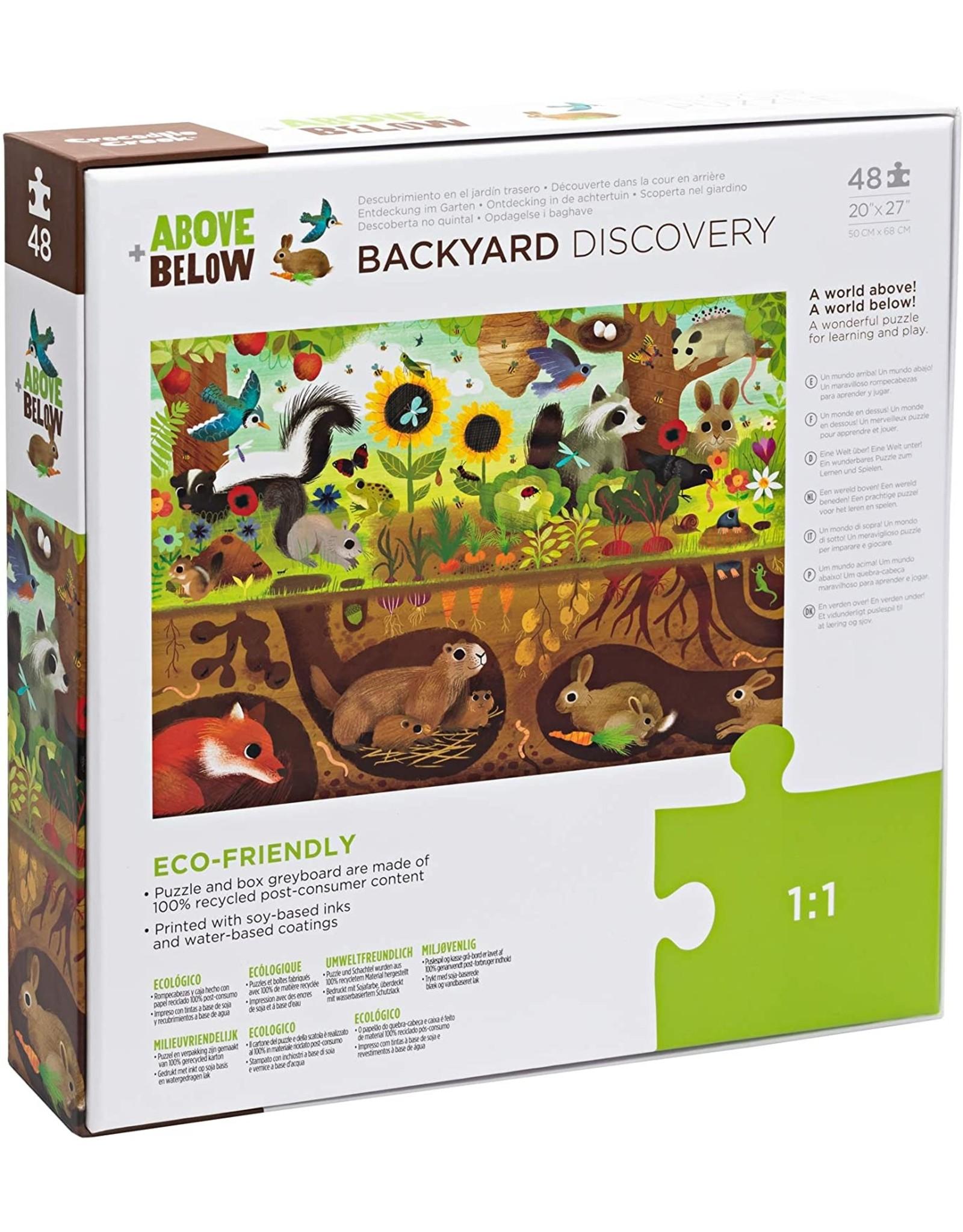 Crocodile Creek Above & Below/Backyard Discovery 48 pc Floor Puzzle