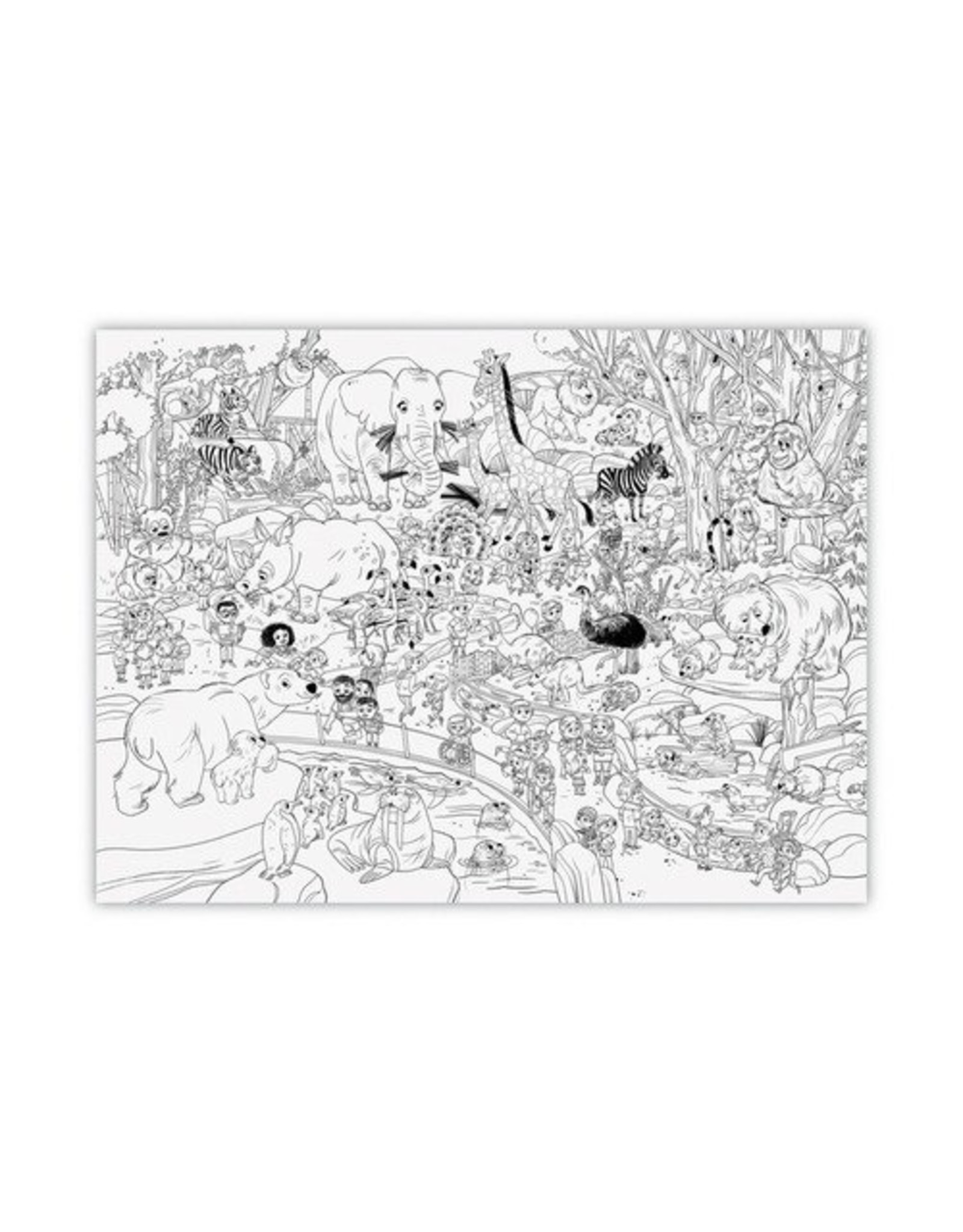 Crocodile Creek Day at the Zoo Giant Coloring Poster