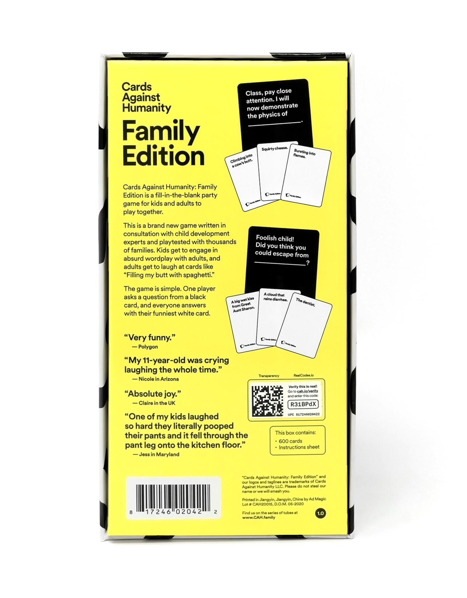 Cards Against Humanity Cards Against Humanity: Family Edition