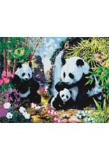D.I.Y Crystal Art Kit Crystal Art Large Framed Kit - Panda Valley