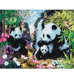 D.I.Y Crystal Art Kit Crystal Art Large Framed Kit - Panda Valley