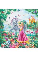D.I.Y Crystal Art Kit Crystal Art Medium Framed Kit - The Princess and The Unicorn