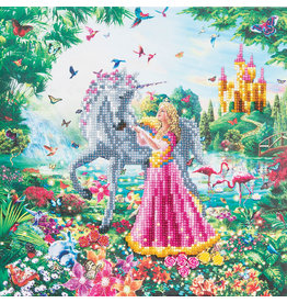 D.I.Y Crystal Art Kit Crystal Art Medium Framed Kit - The Princess and The Unicorn