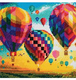 D.I.Y Crystal Art Kit Crystal Art Medium Framed Kit - Hot Air Balloons