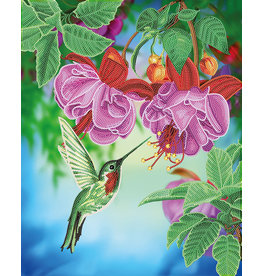 D.I.Y Crystal Art Kit Crystal Art Large Framed Kit - Hummingbird