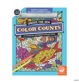 Mindware Glitter Color Counts Color By Number: Under The Sea